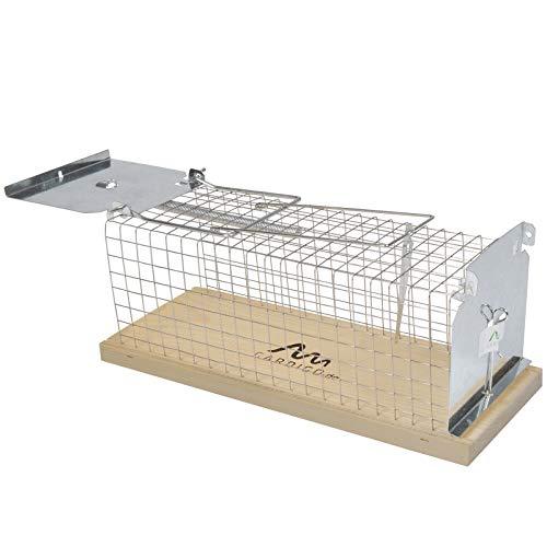 Gardigo Trampa para Ratas Vivos Sin Muerte, Jaula Captura y Caza Humano (no daña al ratón) Ratones Grande, Reutilizable, para Interior y Exterior, Made in Germany