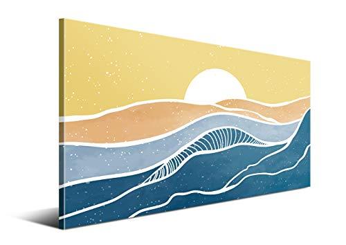 Cuadros de Arte Abstracto Moderno - 120 x 60 cm, Multicolor -...