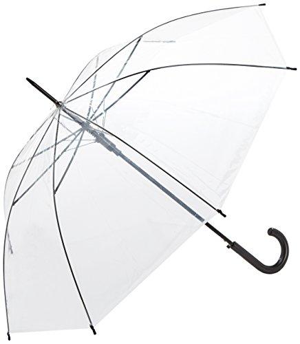 derby Regenschirm transparent durchsichtig Automatik Stockschirm