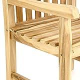 Gartenstuhl Gartensessel Landhaus Teak Holz unbehandelt rustikal massiv stilvoll - 4