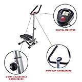 Sunny Health & Fitness Twist Stepper Step Machine with Handle Bar and LCD Monitor - No. 059