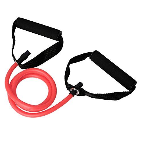 Dsxnklnd Fita de resistência para fitness, tubo de corda, látex elástico, exercício para academia, ioga, pilates, ferramentas de exercícios em ambientes internos