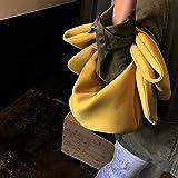 Bolsos Mujer Bolso Bandolera De Hombro Recesivo Bolso Bowknot Lindo Bolso Mini De Viaje para Mujer Bolso Patrty De Noche para Niñas Amarillo