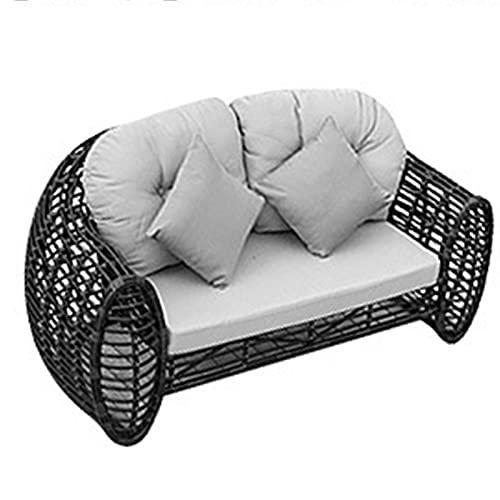 YTO Sofá al Aire Libre de la Silla de la Rota de la Rota del sofá, sofá de la Rota de la cafetería del balcón del Patio del Ocio(Size:B)