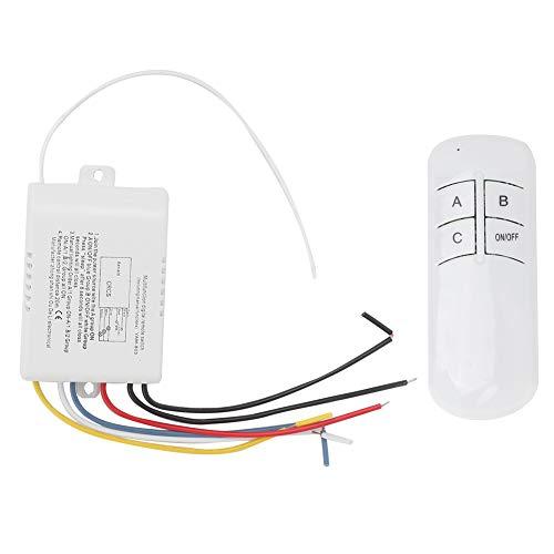 Changor Transmisor de Receptor de Interruptor Remoto de Pared, Interruptor de Control Remoto de plástico ABS Hecho YAM-803 Interruptor Remoto de Pared inalámbrico Digital