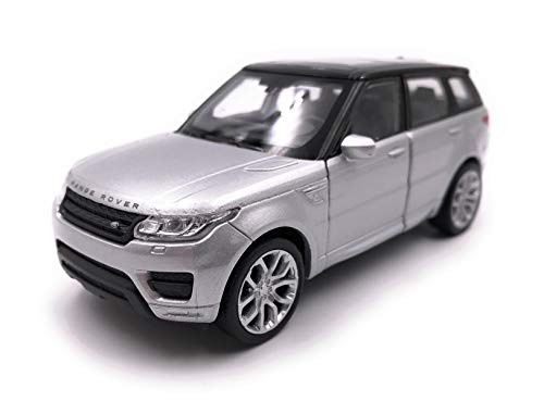 Land Rover Range Rover MKIII Suv Silber 2002-2012 1//24 Welly Modell Auto mit o..