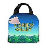 Stardew Valley Bolsa de almuerzo aislada impermeable reutilizable cajas de almuerzo para mujeres adultos picnic trabajo escuela