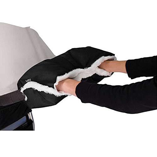 IntiPal Kinderwagen Handwärmer, Handwärmer Handschuhe Handmuff mit Fleece, Universal Kinderwagen Muff für Kinderwagen Buggy Wasserfest Winddicht (Schwarz)