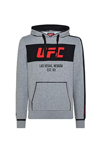 BOXEUR DES RUES - UFC Hoodie Sweatshirt with Big Prints, Uomo, M