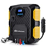 GoMechanic Gusto T1 Handheld Digital Car Tyre Inflators with 1 Year Warranty and Auto Cut Off Portable Air Compressor with Multiple Nozzles for All Cars and Bikes