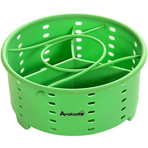 Avokado's 6 Qt Instant Pot Kompatibler stapelbarer Silikon-Dampfkorb Zubehör mit Einlage für Instapot-Schnellkochtöpfe, Ninja Foodie, Crockpot Express Herd und Herd-Töpfe