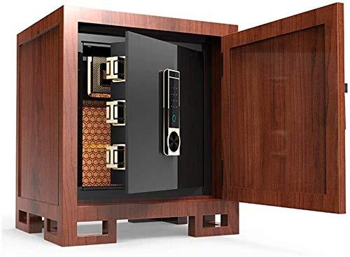 ZHUYUE-kantoor Safe huishouden klein onzichtbaar Chinese massief hout nachtkastje safe Aller Staal anti-diefstal (kleur: bruin, grootte: 45x60x50cm)