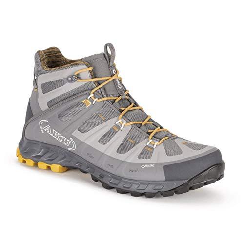 AKU Selvatica MID GTX - Wanderschuh - Trekkingschuh - Outdoorschuh - für Herren - Farbe: grau-Ocker (42 EU)