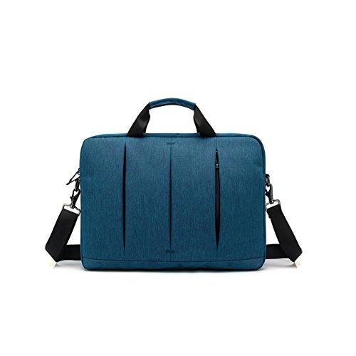 beibao shop Backpack -Nylon Ordinateur Portable Épaule Paquet Porte-Documents Manches Sac à Main 15 Pouces pour Ordinateur Acer/ASUS/Dell/Fujitsu/Lenovo/HP/Samsung/Sony/Toshiba, po Blue, 15 inches
