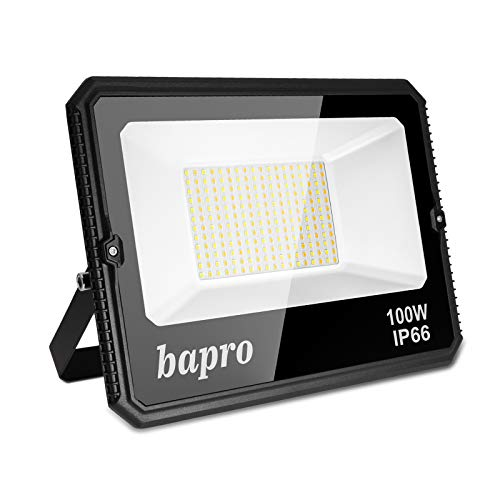 100W LED Foco Exterior, 10000LM Regulable Proyector LED, Impermeable IP66 Floodlight Blanco...