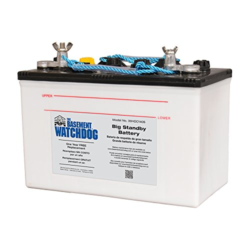 THE BASEMENT WATCHDOG Model 30HDC140S Big Standby Sump Pump Battery