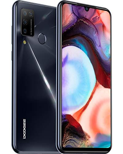 Mobile Phone, DOOGEE N20 Pro (2020) Smartphone SIM Free Phones Unlocked, 6GB + 128GB, 6.3 inches FHD+ Waterdrop Display, 16MP + 16MP Quad Cameras, 4400mAh Battery, 4G Dual SIM, Android 10.0 - Black