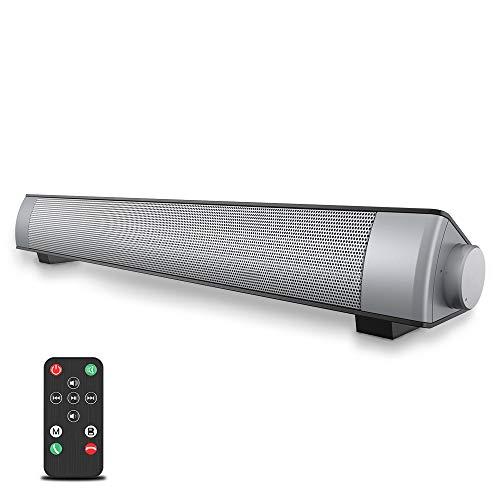 VersionTECH. Soundbar 2.0 Canali, Altoparlante Hi-Fi Suono Surround 3D, Barra Soundbar Bluetooth 4.1 Wireless & Cablata Compatibile TV Cellulare PC per Casa Bar Montaggio a Parete, supporto [RCA, AUX]