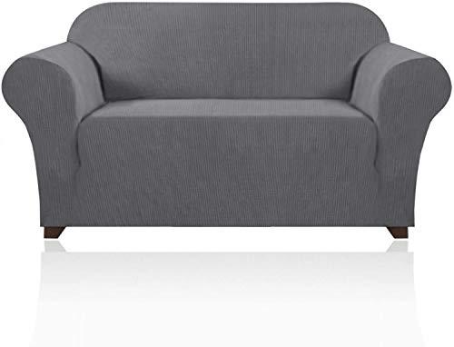 VINGO Funda de sofá elástica de spandex de 233 a 287 cm, funda de sofá de 4 plazas, funda de sofá elástica, 85 % fibra de poliéster, 15 % elastano, en diferentes tamaños y colores