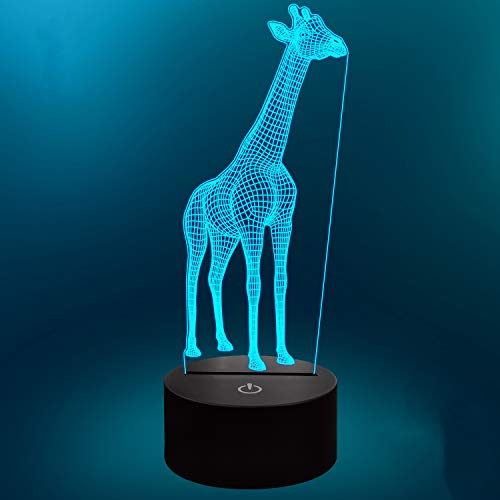 Lampeez Giraffe 3D Lamp Night Light 3D Illusion lamp for Kids, 16 Colors Changing with Remote, Kids Bedroom Decor as Xmas Holiday Birthday Gifts for Boys Girls