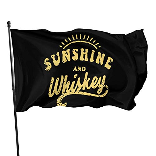Oaqueen Flagge/Fahne Sunshine and Whiskey Garden Flag Yard Home Outdoor Decor Durable and Fade Resistant 3'x5' FT
