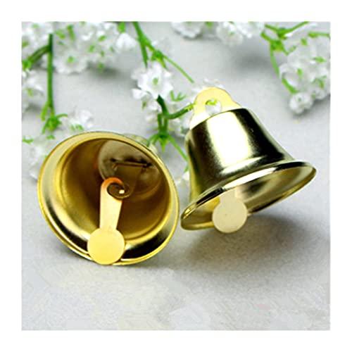 QQINGHAN 10 unids/Set Cobre Campanas chapadas en Oro DIY Accesorios de joyería Hechos a Mano para el hogar Decoración de la Boda Adornos de árbol de Navidad (Christmas Bell Size : 8mm, Color : 5)