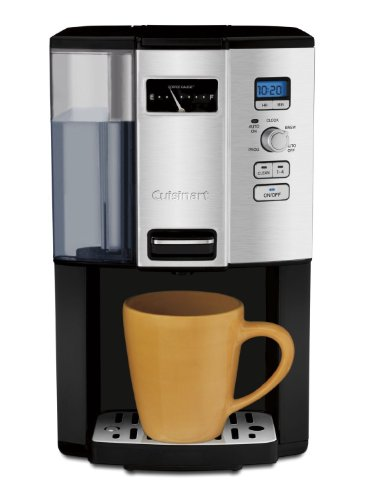 Cuisinart Coffee-on-Demand Automatic Programmable Coffeemaker, 12 Cup Removable Double Walled Coffee and Water Reservoir, with Dispensing Lever, and Auto Brew and 1-4 Cup Brewing, with Auto Clean Feature, Permanent Gold Tone and Charcoal Filter Included