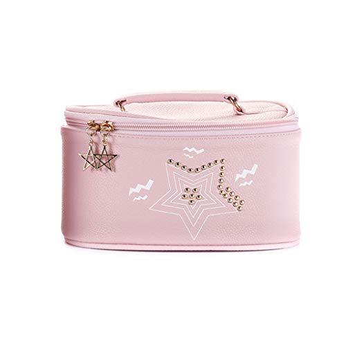 Sac cosmétique de Sac de Stockage Multifonctionnel portatif Simple portatif Multifonctionnel de Cas de Grande capacité (Color : Pink, Taille : 20 * 14 * 10cm)