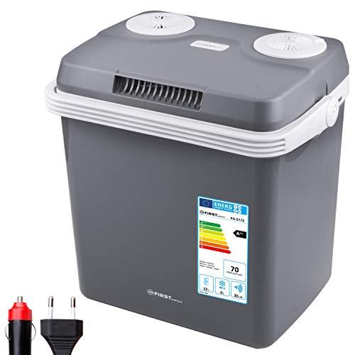 TZS First Austria - 32 Liter Kühlbox, WÄRMT und KÜHLT, thermo-Elektrische Kühlbox 12 Volt und 230 Volt, Mini-Kühlschrank | für Auto und Camping | EEK A++