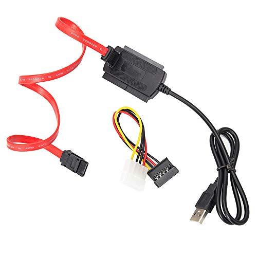 FAMKIT SATA/PATA/IDE - Cable convertidor de adaptador USB 2.0 para disco duro...