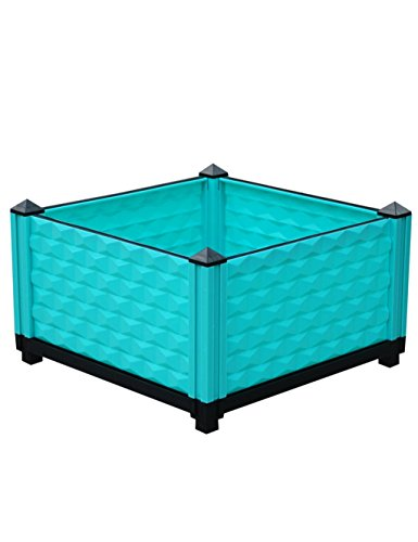 XYZ Piazza plastica vasi da fiori, vasi di verdure, Piantare Box, Planter Fiore, titolare delle piante delicato durevole ( colore : Blu )