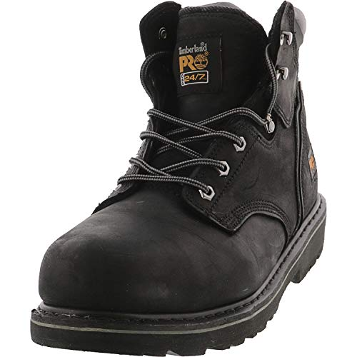 "Timberland PRO Men's Pitboss 6"" Steel-Toe Boot, Black , 11 D - Medium"
