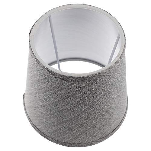 Beaupretty Pantalla de tela para lámpara de araña, lámpara decorativa de cristal, lámpara de suelo, sombra de mesita de noche, repuesto para tienda doméstica, color gris