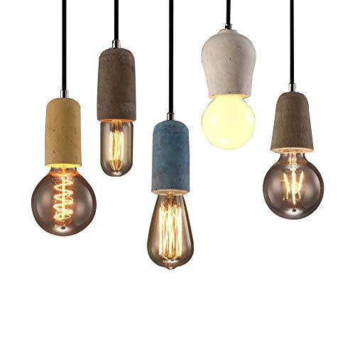 Preisvergleich Produktbild OOFAY LIGHT® Vintage Pendelleuchte aus Beton Indoor Freizeit Cement Lampe Kronleuchter5Pack