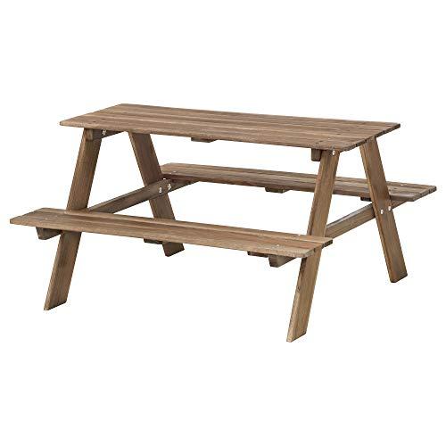 IKEA.. 702.283.25 Resö Kinder-Picknicktisch grau-braun gebeizt grau-braun