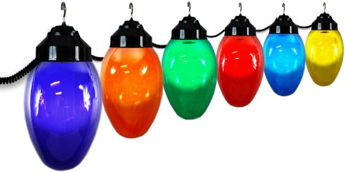 Polymer Products LLC 1661-10521 Giant Christmas Bulb Six Globe String Light Set (Packaging may vary)