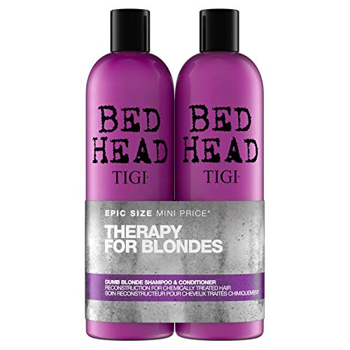 Bed Head by Tigi Dumb Blonde Shampoo and Conditioner for Blonde Hair 2 x...