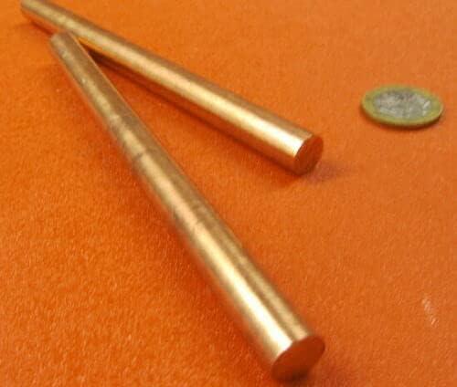 MJ2 2 Pcs of 110 Copper Max 51% New popularity OFF Rod 7 6 Dia. Length 16