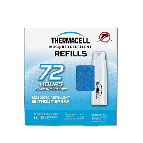 Thermacell Mosquito Repellent Refills, 72-Hour Pack; Contains 18 Repellent Mats, 6 Fuel Cartridges; Compatible with Any Fuel-Powered Thermacell Product; No Spray or Scent