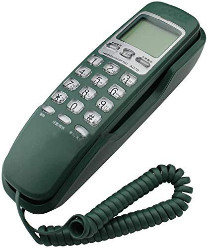 YUBIN Teléfono Inicio Teléfono Fijo Hogar Fijo Montado en la Pared Teléfono Pequeño Teléfono Montado en la Pared Baño Teléfono Teléfono Familia Teléfono 60 * 195 * 50 mm (Color: Verde) Teléfono