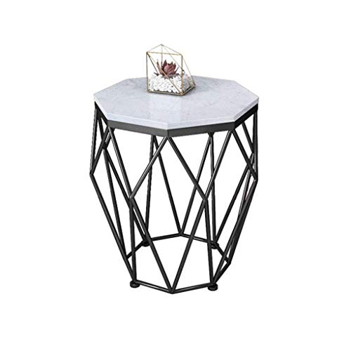 Woonkamer round salontafel Modern Octagon Side/End Table, Faux Marmer, for nachtkastje en slaapkamer Moderne woonkamer ronde tafel (Color : B)