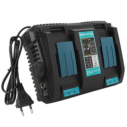Cargador de batería de iones de litio doble, con puerto USB Cargador de batería, diseño de(European standard 110-230V)