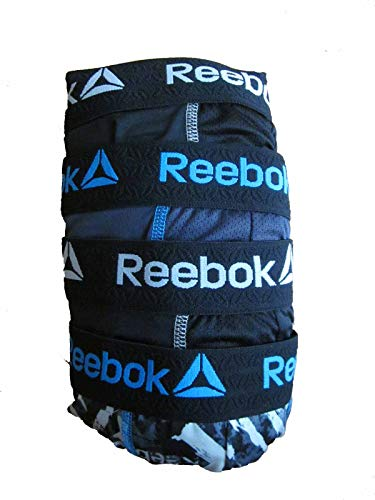 Reebok Men's 4 Pack Performance Boxer Briefs with Comfort Pouch