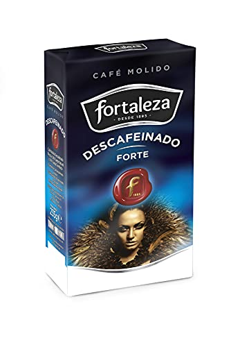 Café Fortaleza - Café Molido Descafeinado Forte, Variedades Arábicas, Compatible con Cafeteras Italianas, de Filtro y de Émbolo, Pack 235g x 12 - Total 2,82kg