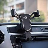 HIGH FLYING für Tiguan I 2007-2016 / Polo V 6C 2014-2017 / Golf Sportsvan 2016-2018 Handyhalterung Auto Lüftung KFZ Halterung Drehung (Schwarz)