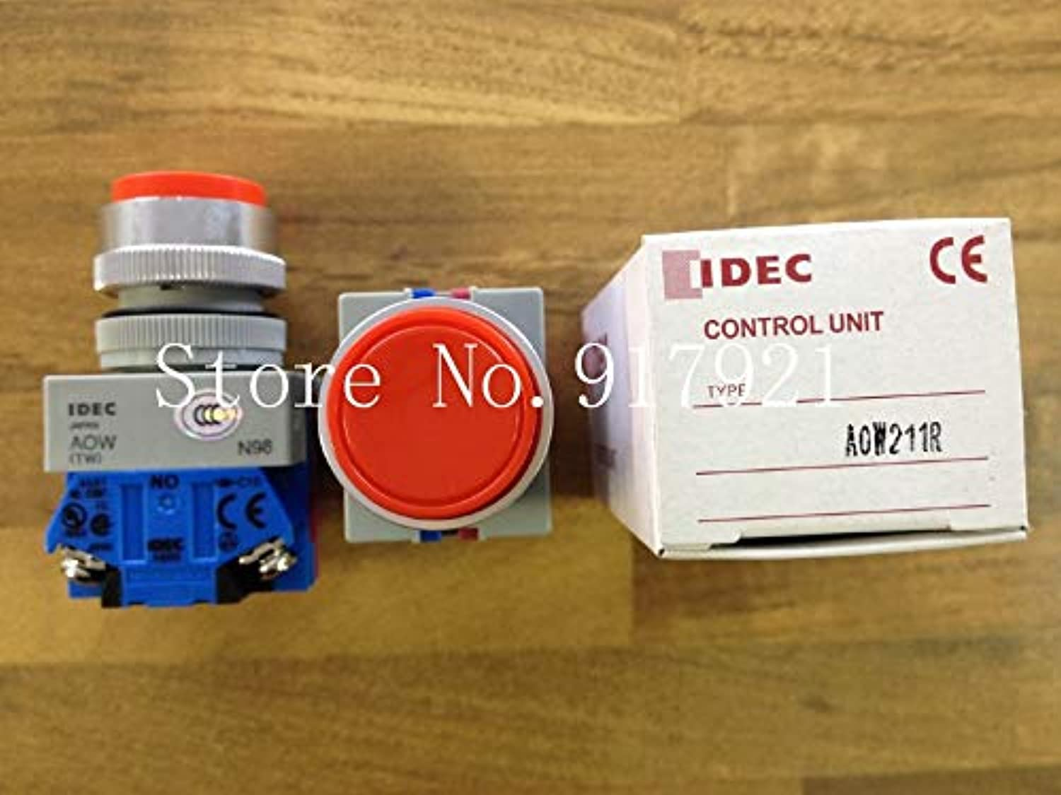[ZOB] Japan's IDEC Idec and AOW211R NO+NC with 22 red Button self-Locking Flat Genuine Original -5PCS LOT