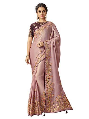 Surat Tex Indian Bollywood Style Mujeres Aabhushan DollaSilk con Sari Bordado - - Talla única