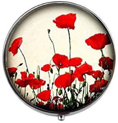 Poppy - Pastillero con diseño de flores rojas y blancas