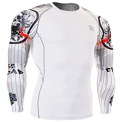 Fixgear Mens Womens MMA Under Compression Base Layer T Shirt Long Sleeve S~4XL