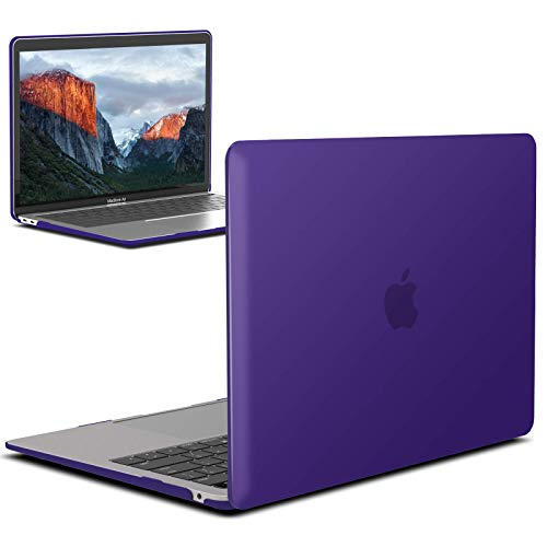 IBENZER MacBook Air 13 Inch Case 2020 2019 2018 New Version A2179 A1932, Hard Shell Case Cover for Apple Mac Air 13 Retina with Touch ID, Ultra Purple, MMA-T13UAPU